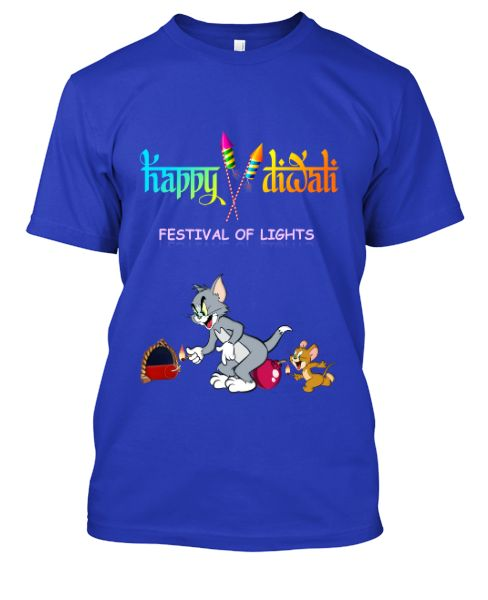3D Happy Diwali Tom & Jerry T-Shirt [Limited Tees] - Front