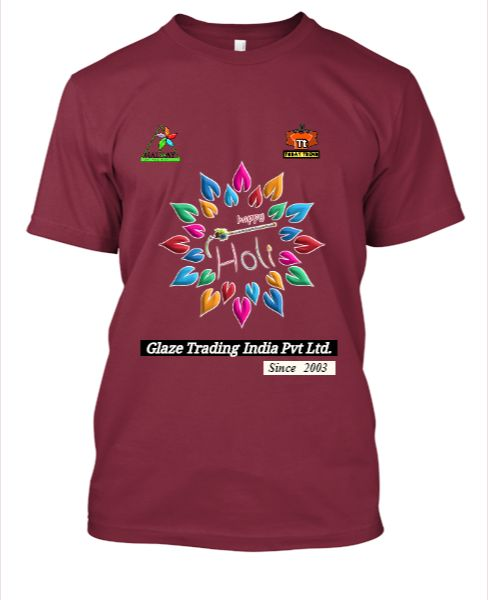 Glaze New Holi Design T-Shirt TodayTrend @499 - Front