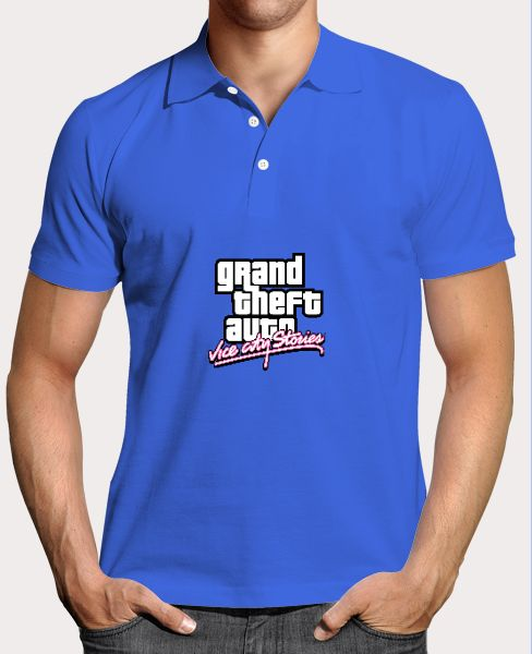 Grand Theft Auto Vice City Theme T-Shirt - Front