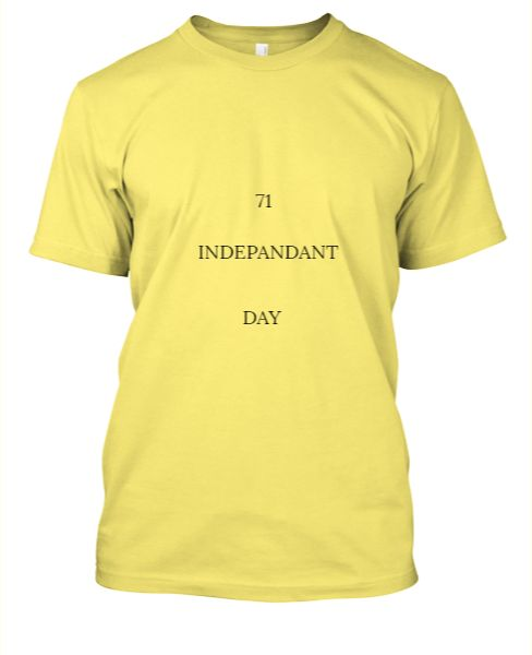 Indepandant day spasial T - shart - Front
