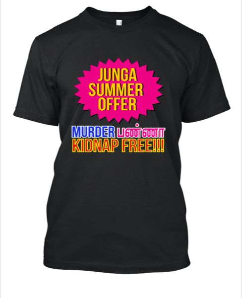 JUNGA TAMIL MOVIE FUNNY T SHIRT - Front