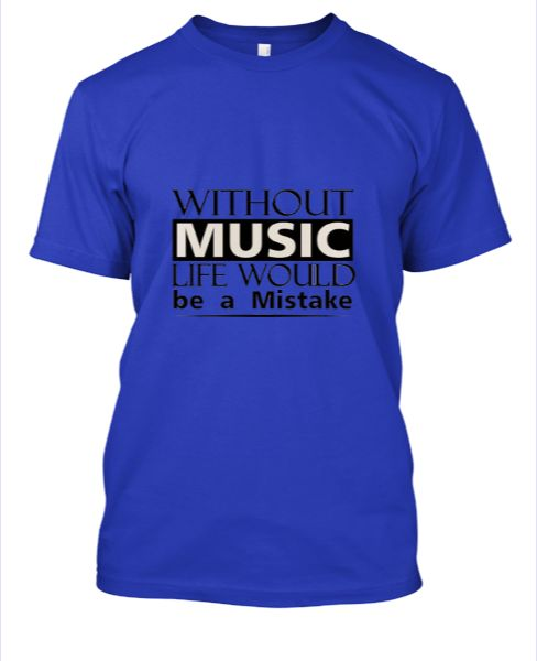 Music White T-Shirt - Front