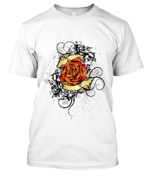 Rose (Custom Printed) T-shirt - Front