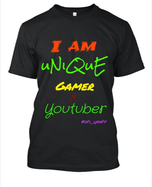Youtuber t-shirt gamer - Front