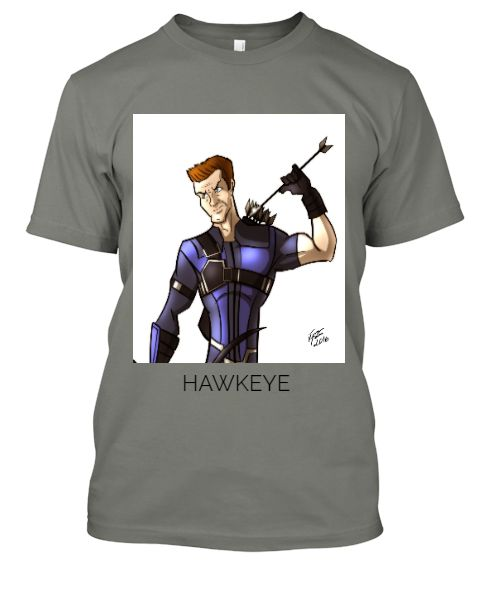 animated hawkeye (t-shirt) - Front