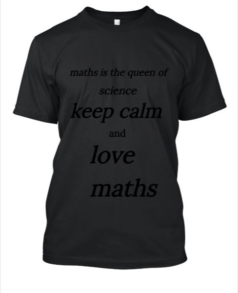 maths is the queen of science - Front